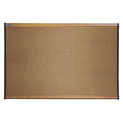 Quartet Cork Board, 4' x 3', Prestige Bulletin Board / Corkboard, Maple Finish Frame ()