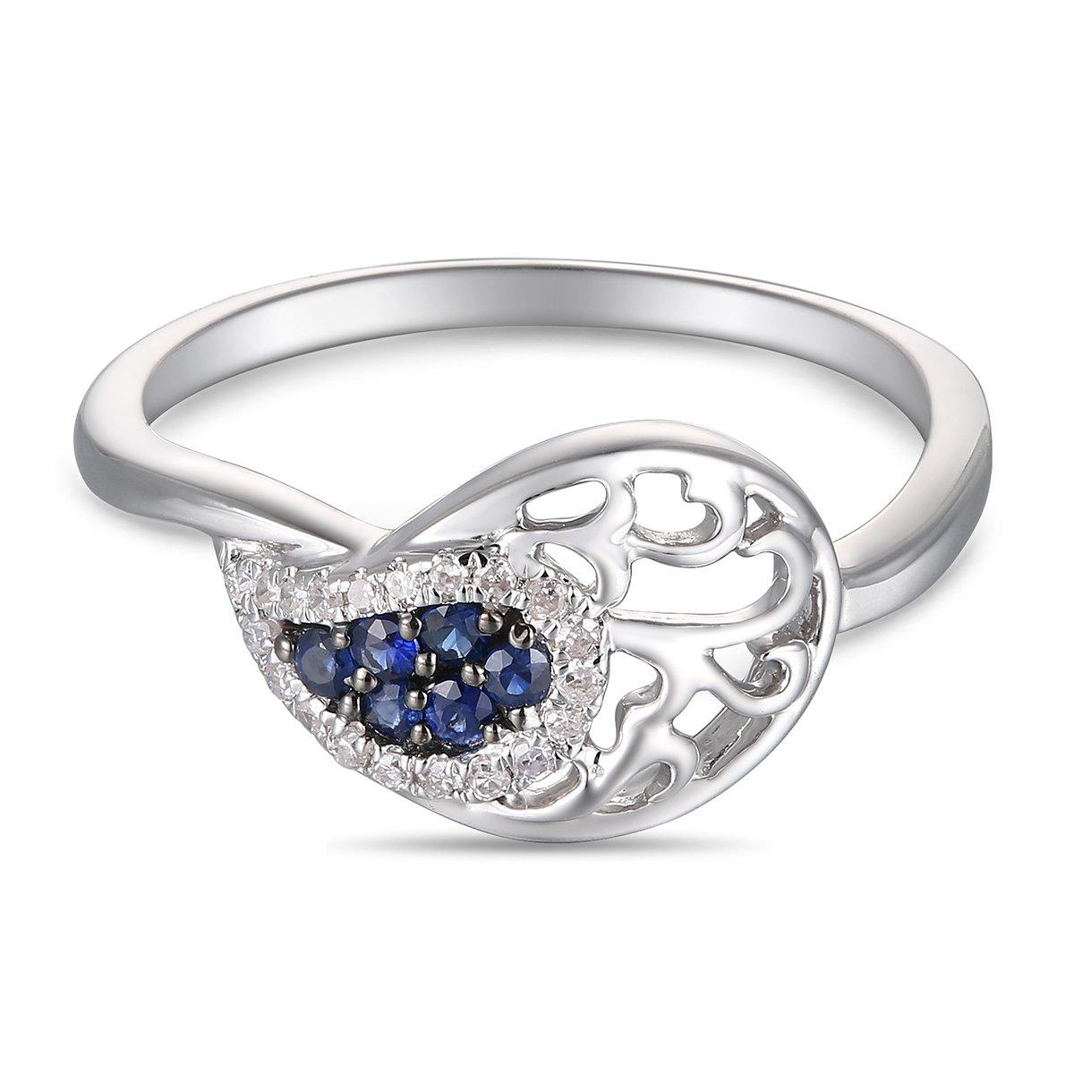 Ferhe New York 14K Gold, Diamond & Sapphire Ring,Diamond Ring,Sapphire Ring