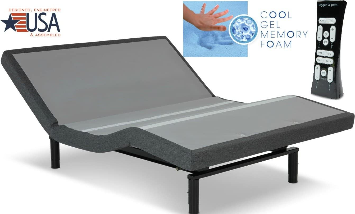 NEW LEGGETT PLATT S-CAPE PERFORMANCE W 12 COOL GEL MEMORY FOAM MATTRESSES IN ALL SIZES QUEEN