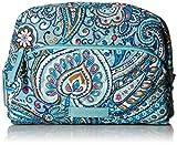Vera Bradley Women's Signature Cotton Medium Cosmetic Makeup Bag, Daisy Dot Paisley, One Size