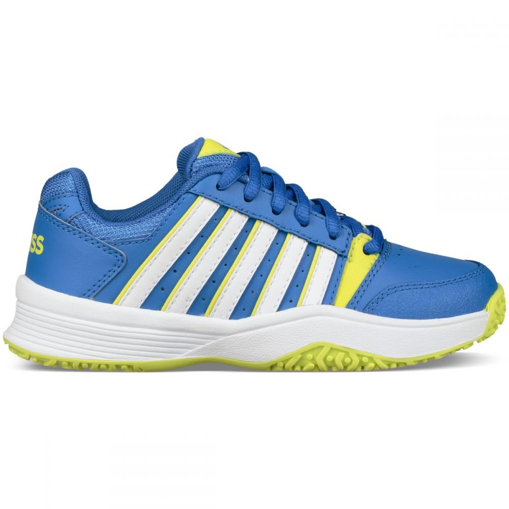 K-Swiss Performance Court Smash Omni, Chaussures de Tennis Mixte Enfant 29.5 29.5 Enfant EU|Bleu (Strong Blue/Neon Citron 48) f5b941