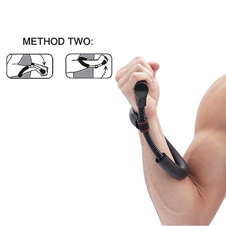 Wristhand antebrazo de agarre, NATUCE ajustable Negro muñeca Fortalecedor Ejercitador de pesas, aptitud Cruz, culturismo, muñecas fortalecimiento o ayudar a ...