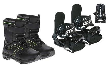 c724806ed234 Symbolic Custom-Flow Black Snowboard Bindings   Boots   Leash   Stomp Pad  Kids XS