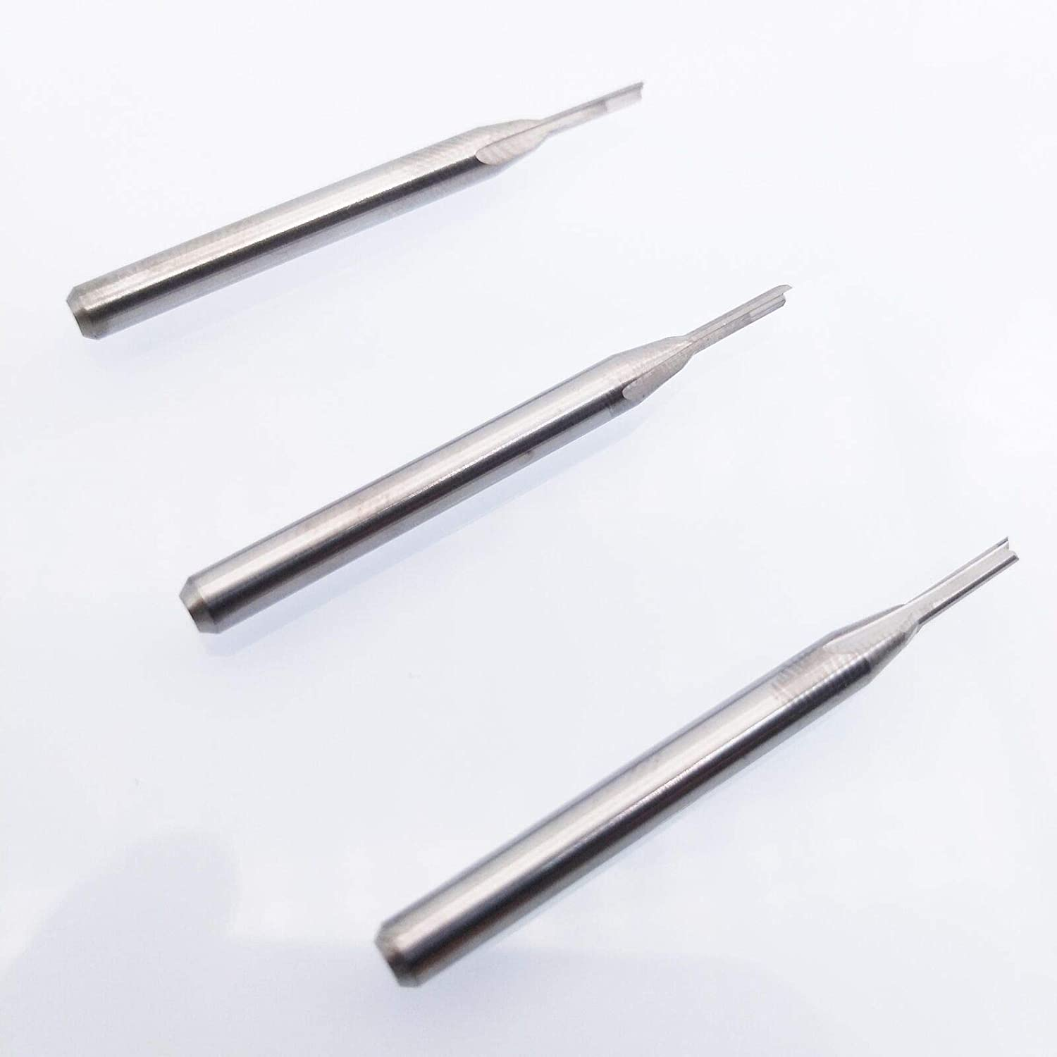 3x Double Flute Straight Endmill Tool CNC Router Bits SD1//8 CED1.5mm CEL7mm