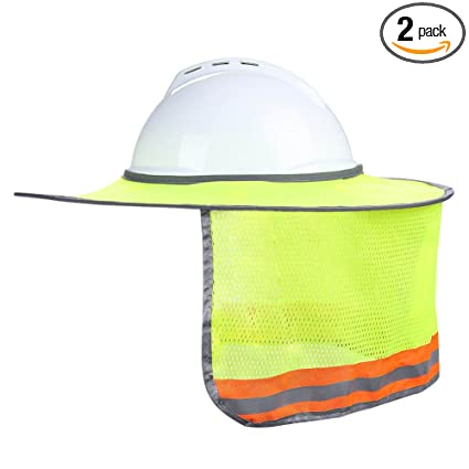 33c37c2b885 Image Unavailable. Image not available for. Color  Uspeedy 2 Pack Hard Hat  Sun Shield