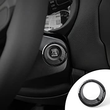 For Jeep Renegade Engine Start Stop Button Ignition Switch Chrome Cover Trim