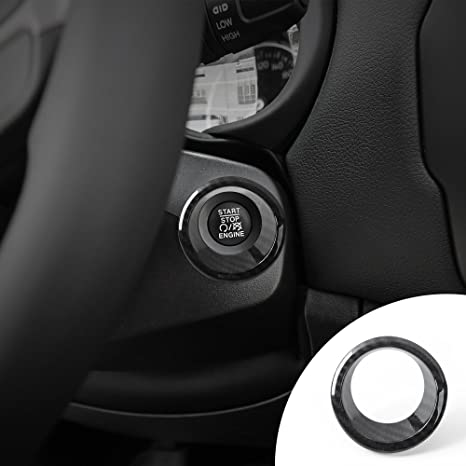 Car & Truck Interior Parts Start Stop Engine System Key Ring Cover For Jeep Compass 2017-2019 Accessories
