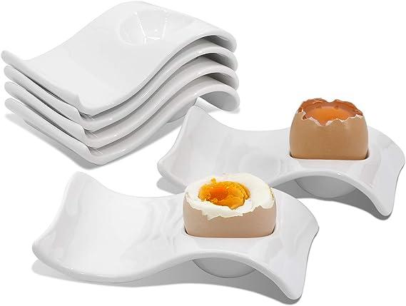Amazon.com: Hueveras de cerámica para servir huevos duros y ...