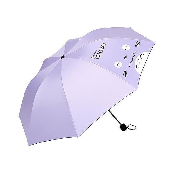 Nuevos Paraguas De La Protección Solar De La Llegada Parasol Anti-ULTRAVIOLETA Parasol Protegido ULTRAVIOLETA Plegable Triple Para Las Señoras,6: Amazon.es: ...