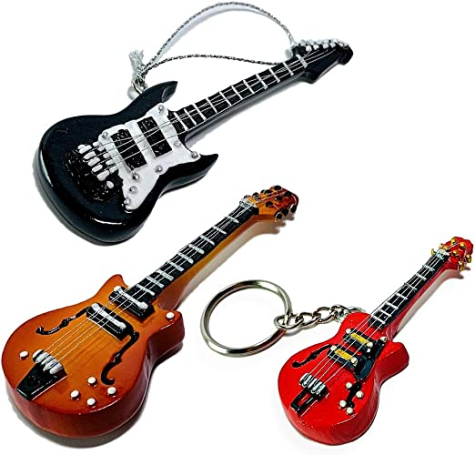 BANBERRY DESIGNS Guitarra Ornaments – Adorno de Negro de Guitarra ...