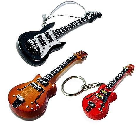 Banberry Designs Guitarra Ornaments - Adorno de Negro de Guitarra ...