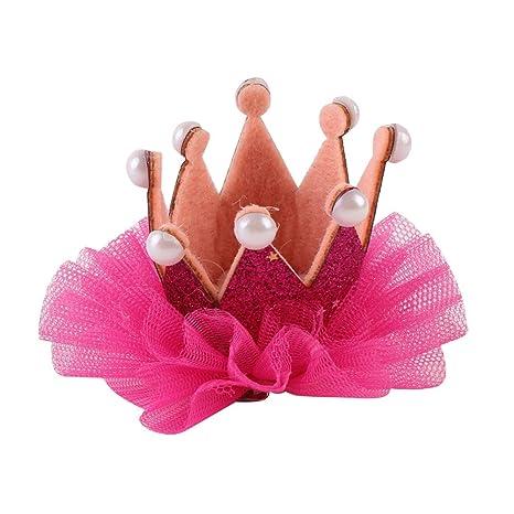 Amosfun Princesa Corona con Flores para Bebé Corona Infantil ...