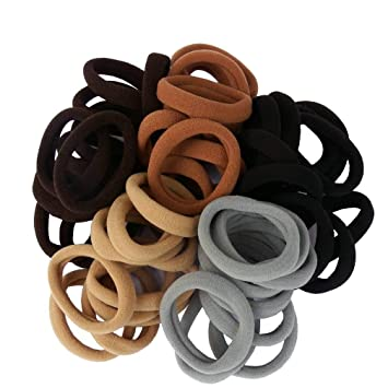 100pcs Women Elastics Rubber Ponytail Holder Hairband Brief Scrunchie Rubber