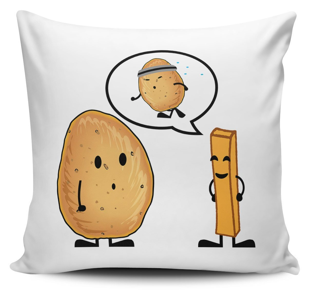 Cómo ponerse en forma divertida de patata - Funda para cojín ...