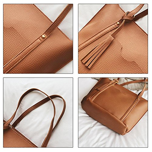 Sale Leather Bag 4Pcs Card Red Messenger Sunday77 Pattern Package Women a Crossbody Bag Handbag Clearance xr8Xqwr
