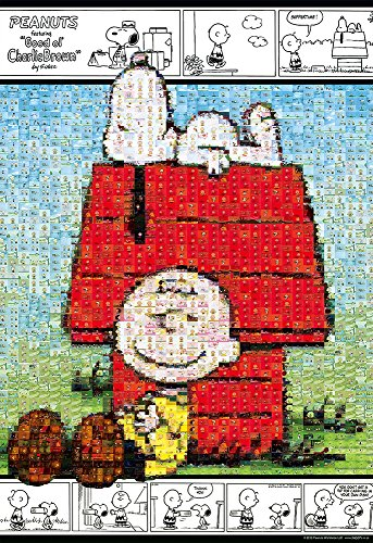300 piece jigsaw puzzle mosaic Snoopy and Charlie Brown (26x38cm) - Brown Snoopy Puzzle