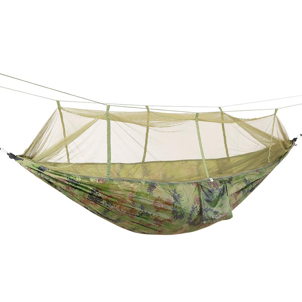 Yard. Lightweight Nylon Portable Hammock,Camping Hammock with Mosquito net-Camping Beach Travel IFUMAMA Double Camping Hammock