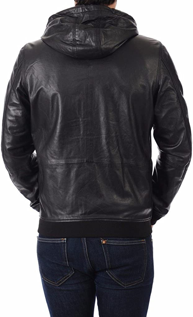 Leather Market Mens 100/% Lambskin Leather Bomber Biker Jacket outfit