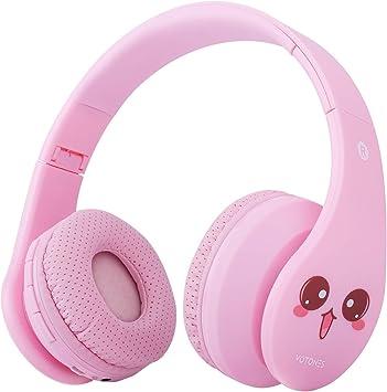 Auriculares Bluetooth para niños, Auriculares inalámbricos para niñas, 85 dB Volumen limitado Plegable, Auricular ligero sobre la oreja con micrófono Ranura para tarjeta SD para niños: Amazon.es: Electrónica