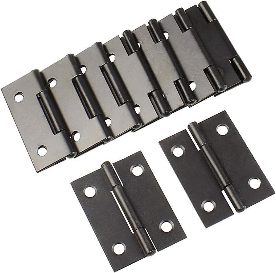 Rzdeal Charni/ères en m/étal Noir 38/x 30/mm Home Furniture Hardware Charni/ère de porte lot de 10