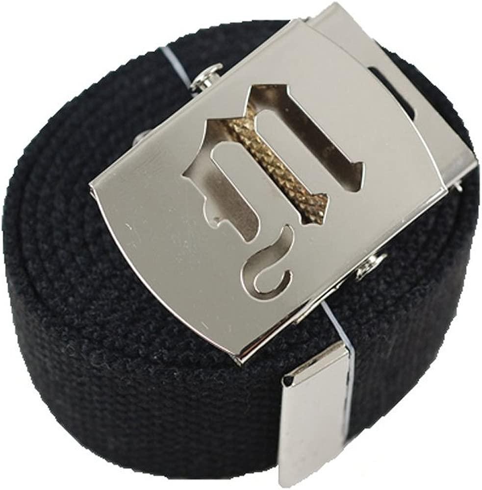 Canvas Military Web Belt /& Black Buckle 60 Inch