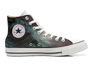 Converse All Star Hi Customized personalisiert Schuhe (gedruckte Schuhe) Perfect Wave