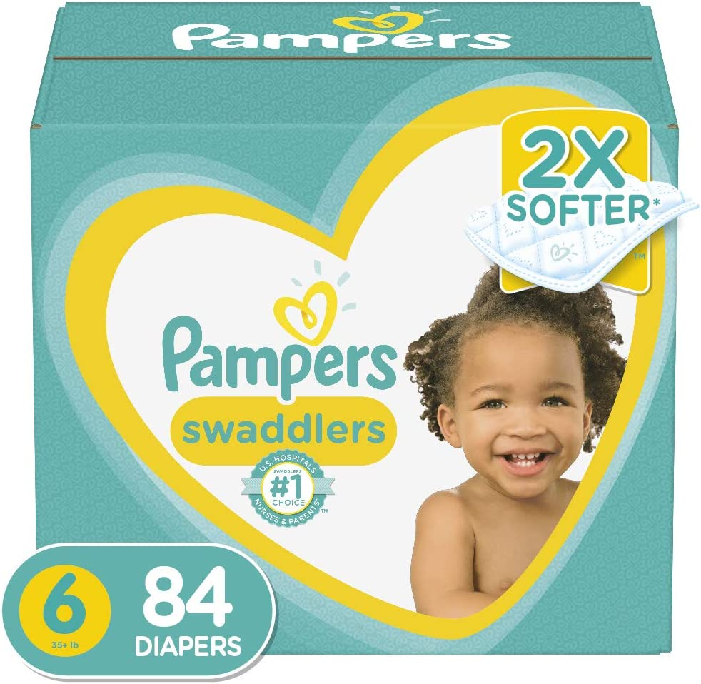 Pampers Swaddlers Disposable Baby Diapers Enormous Pack 70 Count Diapers Size 7