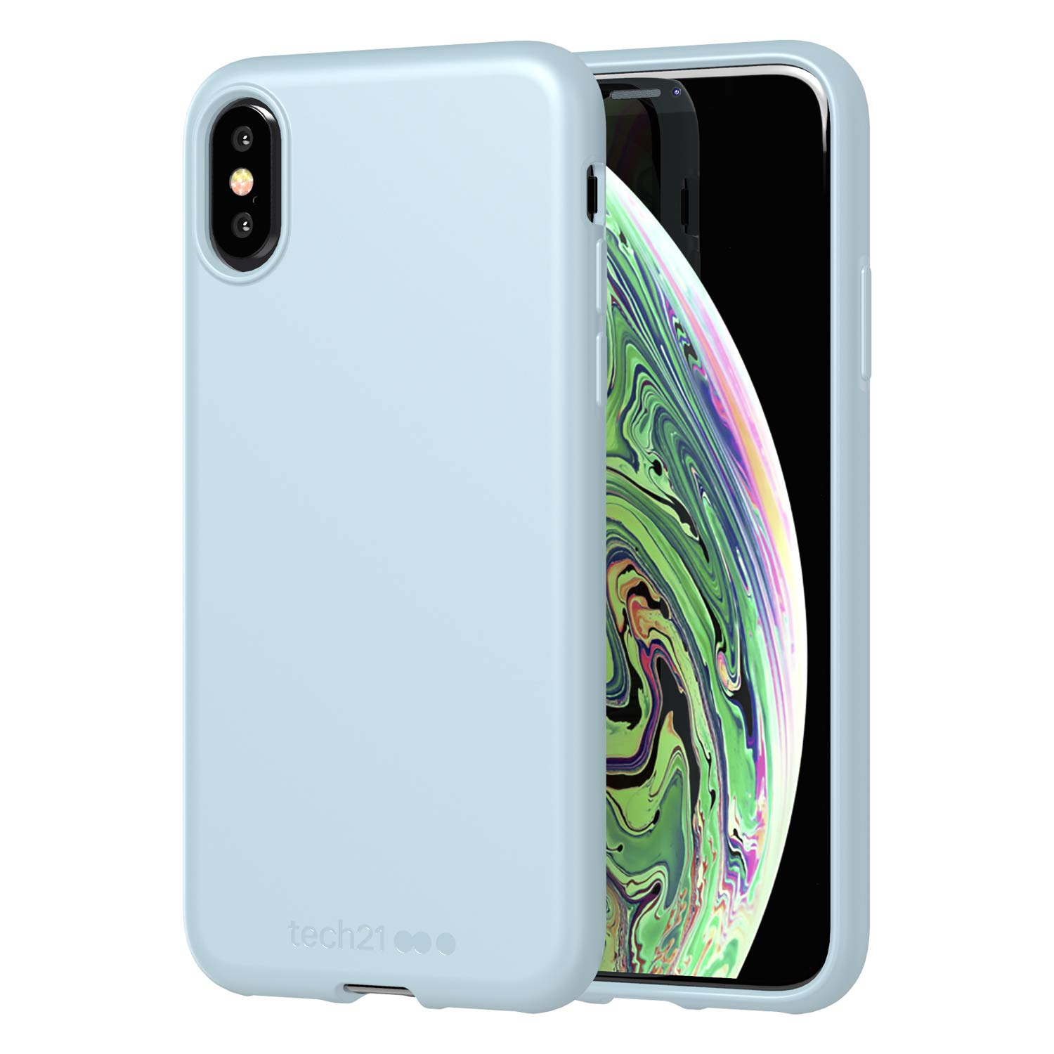 san francisco 8565f bdd75 tech21 Studio Colour Phone Case, Compatible with Apple iPhone X/XS -  Protective Case with Antimicrobial Properties, Shark Blue