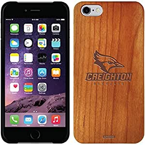 fashion case iphone 6 4.7 Madera Wood Thinshield Case with Creighton Bluejay Wordmark Light Design