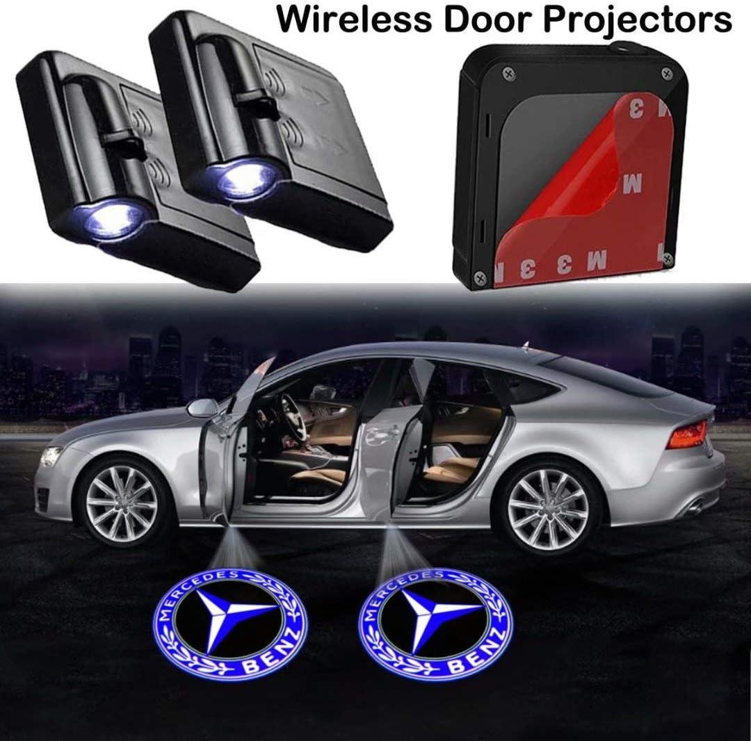 2Pcs Car Door Lights Logo Projector fit Nissan,Wireless Car Door Paste Projector Logo Lights Led Logo Projector Lights Shadow Ghost Light Welcome Courtesy Lights