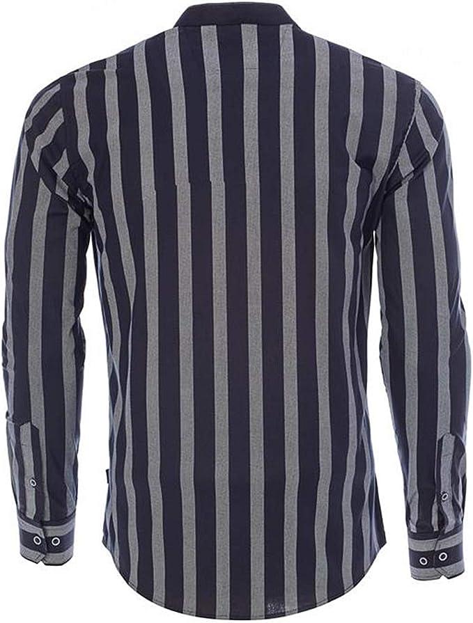 Carisma CRM8457 - Camisa de diseño, 2 colores con rayas ...