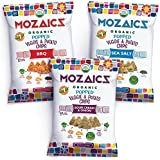 Mozaics Organic Popped Veggie & Potato Chips, 3.5oz Share Bags (Crowdpleasers, 8-pack)