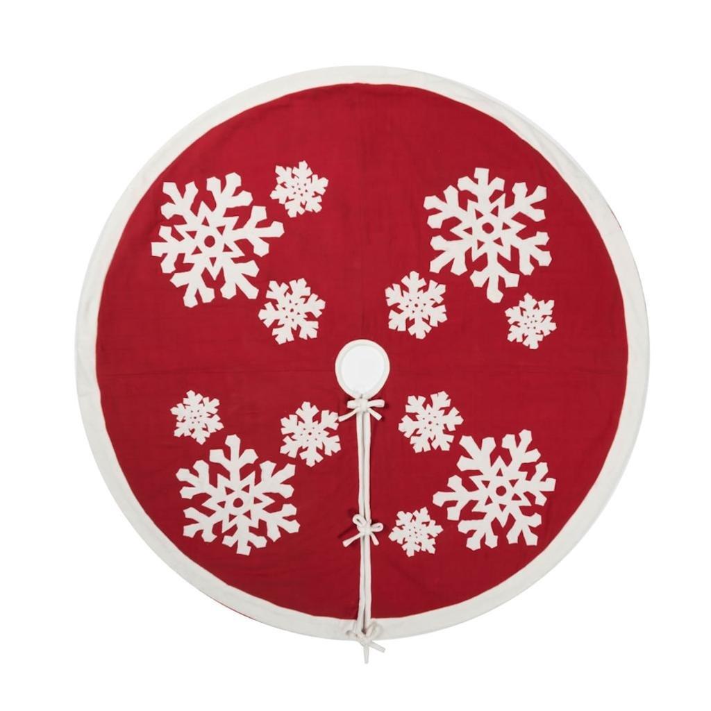 Vickerman 505731 - 60'' Felt Flakes Collection Tree Skirt (QTX17351) Christmas Tree Skirts