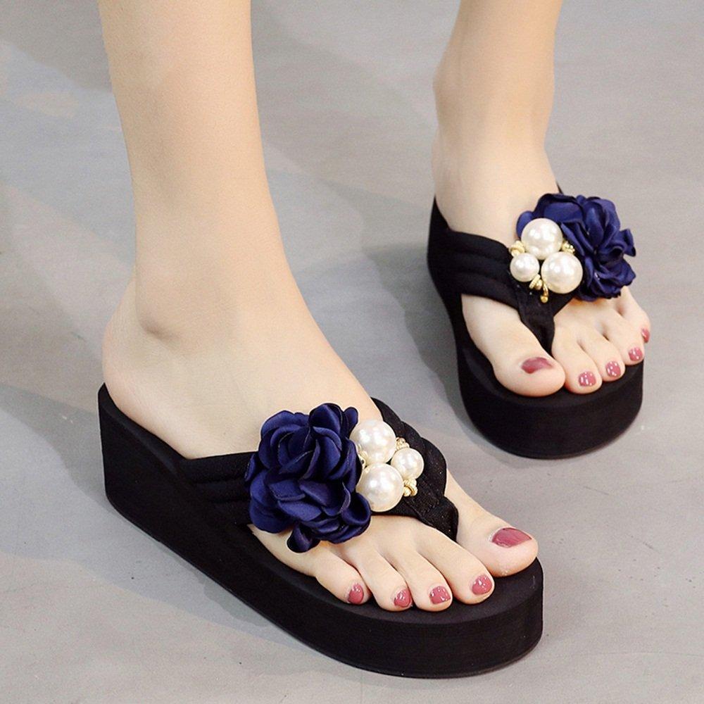 ZHIRONG L , été femme sandales épais mode usure taille extérieure pantoufles fond épais à talons hauts plage anti-dérapant couleur en option ( Couleur : B , taille : EU39/UK6.5/CN40 ) B 0ae3083 - latesttechnology.space