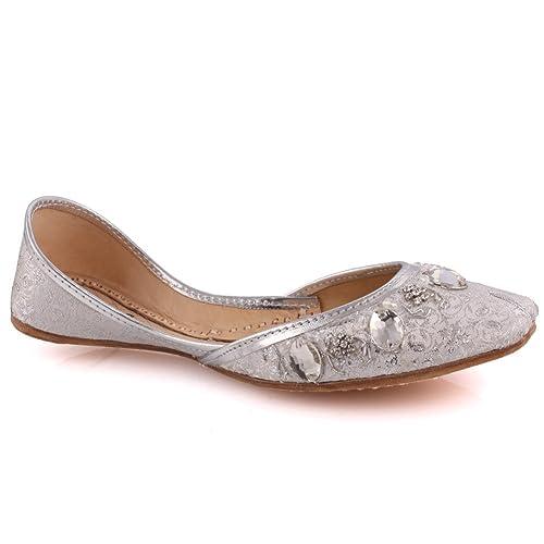 Unze Zapatillas Mujer Granate Piedra Preciosa Khussa Reino Unidotamaño ...