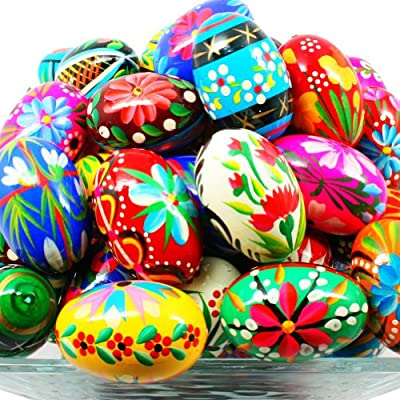 Amazon Com Pysanky Pisanki Handpainted Polish Wooden Easter Eggs