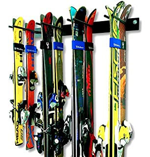 Amazon.com: Ski Wall Rack Mount -- 4 Vertical Sets of Skis: Home ...