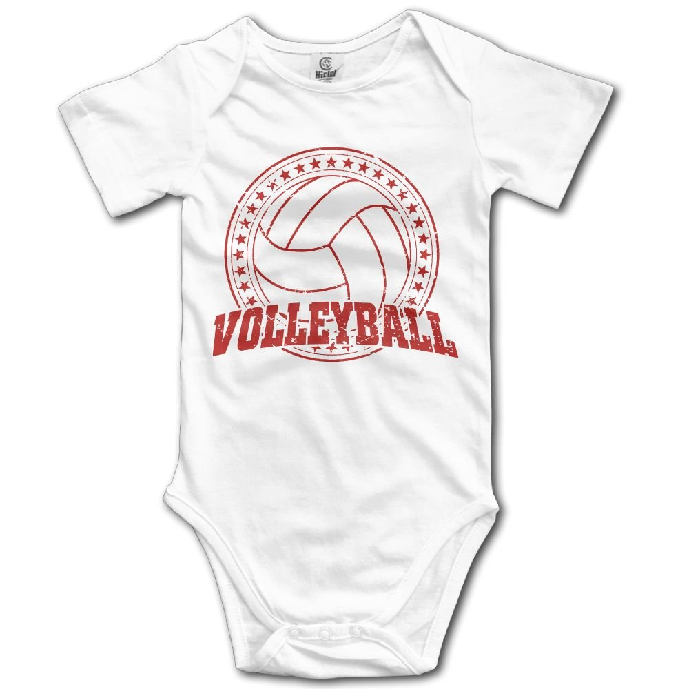 Jaylon Baby Climbing Clothes Romper Volleyball Design Infant Playsuit Bodysuit Creeper Onesies White