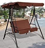K&A Company Patio Canopy Swing Outdoor Loveseat Hammock Person 2 Seat Porch Yard Bench Furniture Love Chair Leisure Garden Play Glider Coffee
