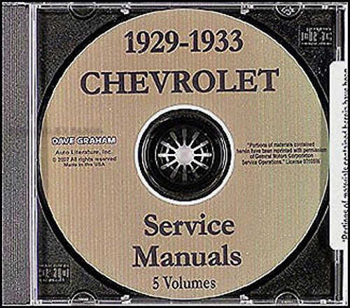1929 1930 1931 1932 1933 Chevrolet Car Truck Factory Repair Shop Service For All Models On CD-rom - See Description For All Models Covered