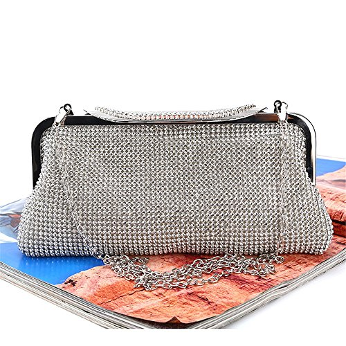 Color Lovely Prom Bag Silver Rabbit Crystal Party Large Suitable Silver For Women Rhinestone Evening Cocktail Purse Clutch Clutches ZcZqrAwf
