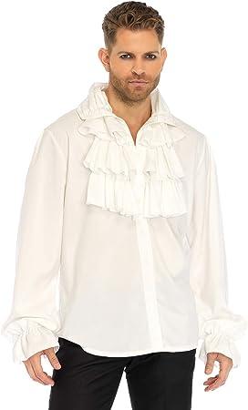 Leg Avenue Disfraz de Camisa de volantes frontal, tamaño mediano: Amazon.es: Salud y cuidado personal
