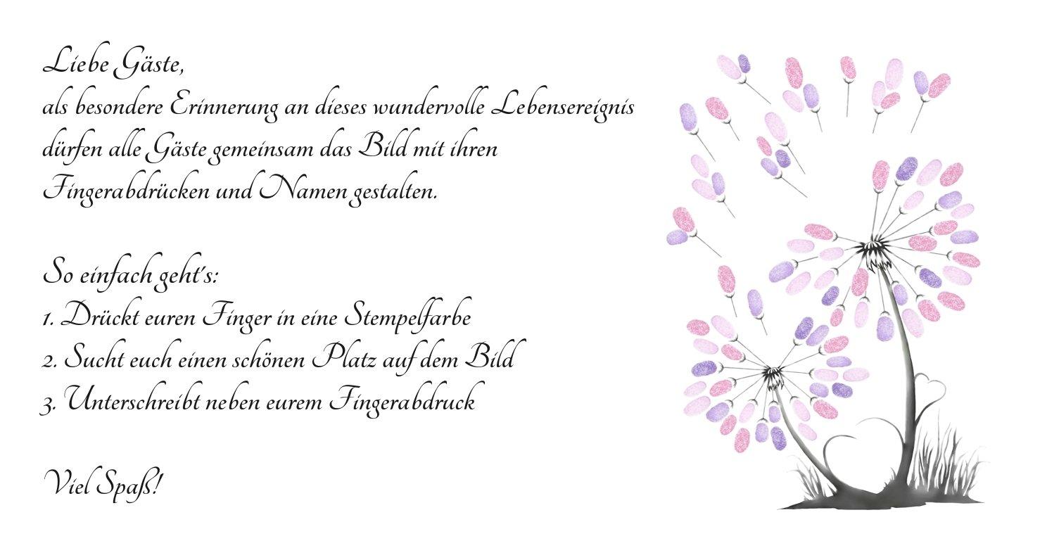 gstebuch hochzeit seite gestalten good wedding tree pusteblume baum hochzeit poster xcm. Black Bedroom Furniture Sets. Home Design Ideas