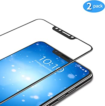 TAMOWA Protector de Pantalla para Xiaomi Pocophone F1 [2 Piezas], Cubierta Completa Vidrio Templado 9H Dureza Cristal Templado Premium, Anti-Huella Digital, Anti-Scratch, Anti-Burbujas (Negro): Amazon.es: Electrónica