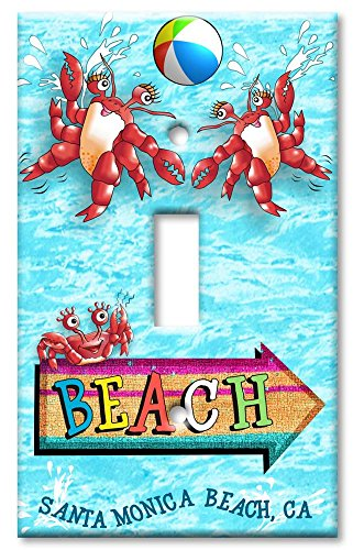 Art Plates - Santa Monica Beach Switch Plate - Single - Monica Outlet Santa