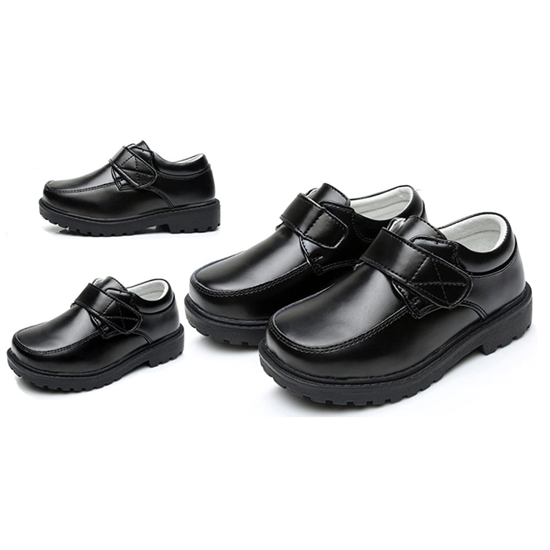Zhhlinyuan Fashion Kids Etiquette Casual Shoes Big Jungs Soft PU Leather Non-Slip Shoes LDXOXMXvId