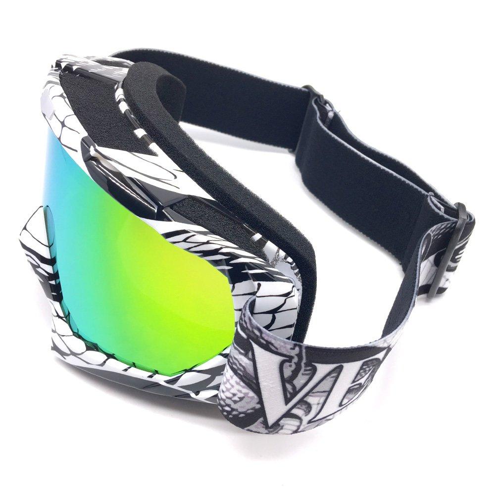 Zdatt Bendable Snow Skiing Snowboarding Goggles,Unisex Motocross Sports Snowmobile Snowboard Ski Goggles Anti Fog Dust UV, Dustproof Scratch-Resistant by ZDATT (Image #2)