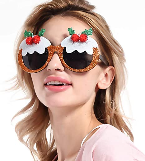 Nuevo Marco de Navidad Gafas Adornos Gafas Disfraz Marco de Ojos ...