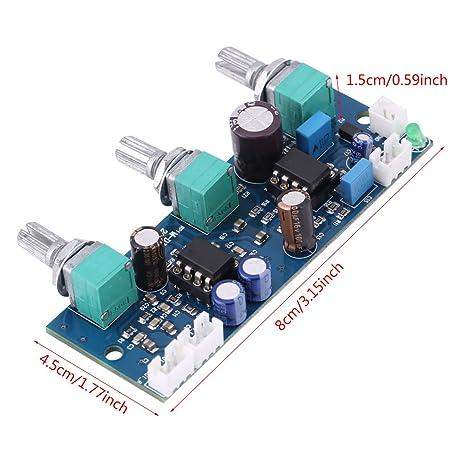 10V-25V Filtro de Paso Bajo,Asixx, Para Cambiar El Amplificador Operacional,Soporta Entrada de Canal de Sonido Simple/Doble, Admite Salida de Canal Único.