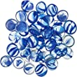 Penn-Plax Aquarium Decorative Gem-Stones Pearl Blue 90 Pcs